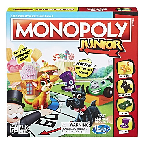 Product Image of the Hasbro Monopoly Junior Board Game, Ages 5 and up (Amazon Exclusive)