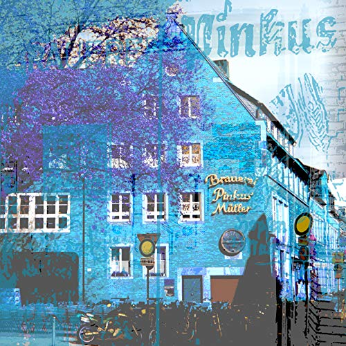 StadtKUNST - das Original: Bild auf Aluminium Brauerei Münster Format 37x37