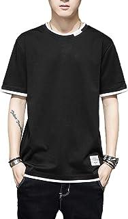 XCHMYi tシャツ メンズ 無地 半袖 【2021新品】カジュアル ファッション 丸襟 快適 五分袖 吸汗 柔らかい ロンT 春 夏