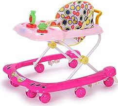 YUMEIGE Andadores Andador, chasis en forma de U, Andadores, 360 ° Abrazando los del cojín, Andador, mesa de comedor variable grande, azul, rosa (Color : Pink)