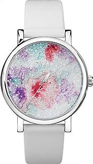 ساعة Timex النسائية Crystal Bloom Swarovski المصنوعة من القماش 38 مم