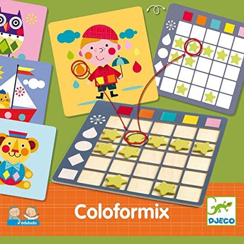 Djeco- Juegos de Acción Y Reflejos Educativos Eduludo Coloformix, Multicolor (15)