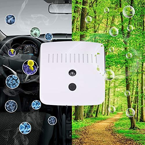 Nannday Ultraschall-Anionen-Luftreiniger, tragbares Auto Negative ionische Luftreiniger Geruch Gebrauchtrauchentfernung für Fahrzeugraum, Stummschaltung