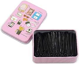 Hair Bobby pins,Shaped Hair Pins Hair Styling Pins Black hair grips, Straight plate hairpin Hair Clips for Girls Kids Wome...