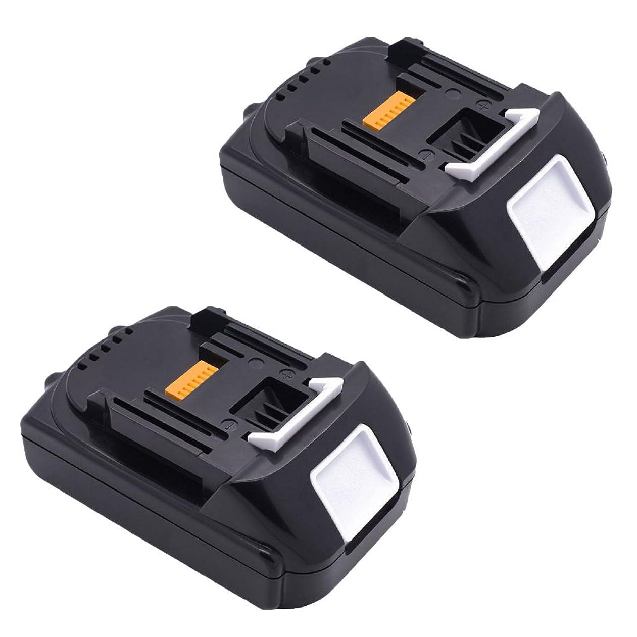 不調和批判入手します2個セット マキタ 18V マキタ互換バッテリー 18v マキタ 18v バッテリー BL1815 BL1820 BL1830 BL1840 BL1850 BL1860 BL1860b バッテリー 1500mah マキタ 18V 電動工具用 互換バッテリー 1年間保証!