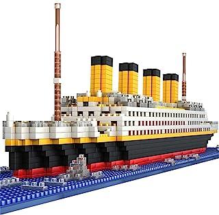 BIDIUTOY Titanic Ship Model Building Block Set, 3D Puzzle Sets DIY Educational Toys, Bricks Toy-with 1860Pcs Micro Mini Blocks, Ideal Gift for Kids & Adults