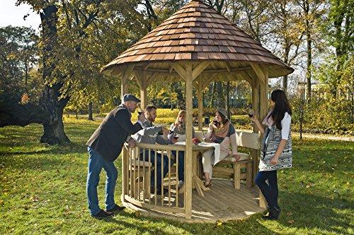 GC Mesa redonda de madera para cenador Villandry