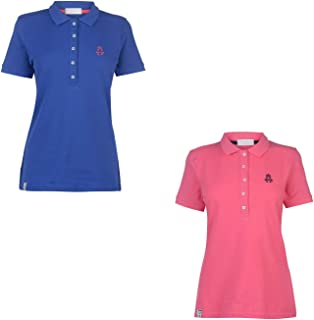 Hurlingham Polo 1875 Essential Lulu Polo Shirt Womens Top T-Shirt Horse Riding