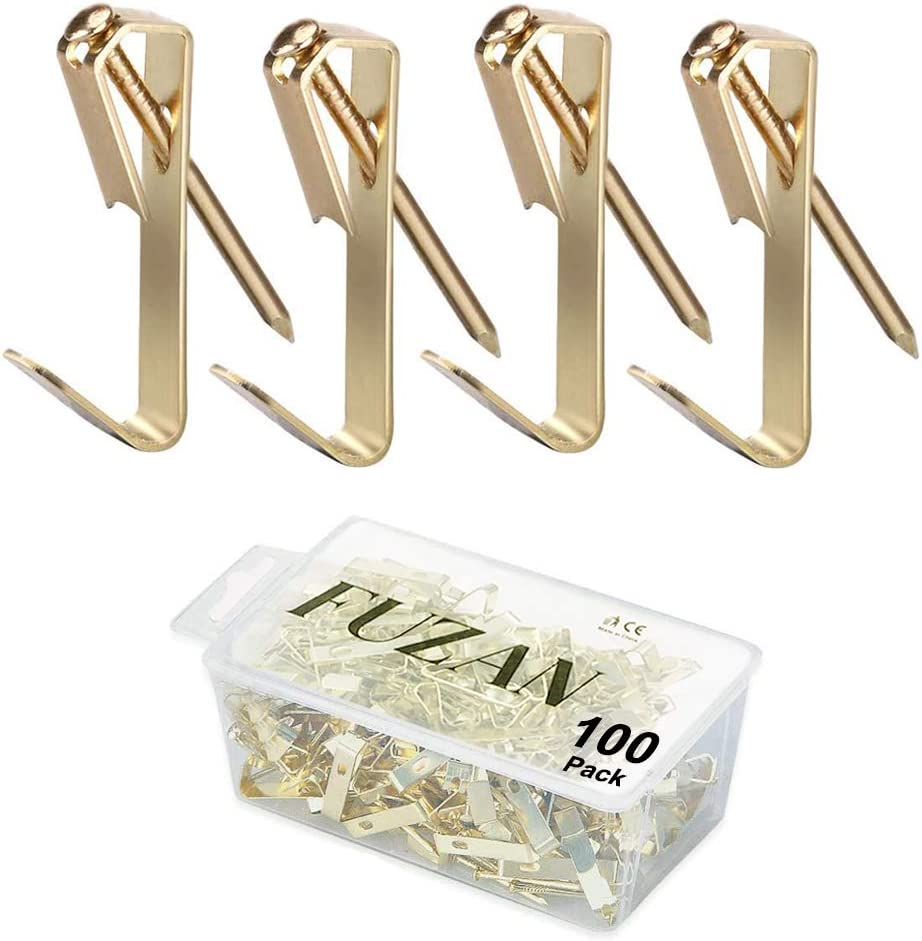 100pcs Picture Hangers with Su Nails mart Luxury Hooks Professional