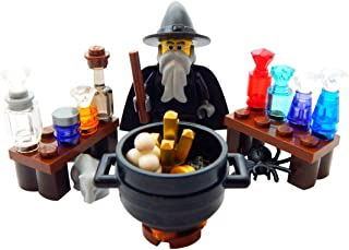 LEGO Wizard with Alchemy Workshop Lab - Custom Potions Wizard Minifigure