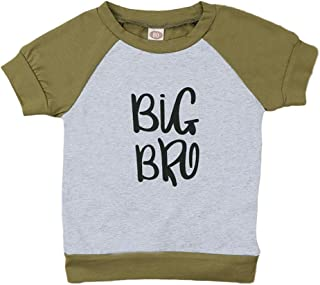 itkidboy Newborn Toddler Baby Boy Clothes Little Brother Romper & Big Brother Hoodie Outfits