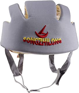 Prettyia Toddler Adjustable Safety Helmet Headguard Protective Harnesses Hat Safety Caps for Walking & Crawling - Grey Type A