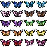 Angmile 10 Colores completos Bordados delicados Mariposa Bordado Decorativo Parche Ropa decoración Agujero Bordado capítulo 20 unids/Set