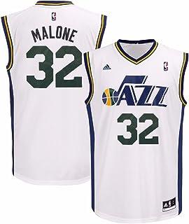 adidas Karl Malone Utah Jazz NBA Men s White Official Home Replica Jersey c5993e37f