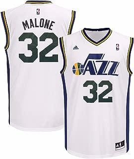 adidas Karl Malone Utah Jazz NBA Men's White Official Home Replica Jersey