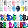 Danirora Cat Party Favors, [30 Pack]Cat Sequin Keychains…