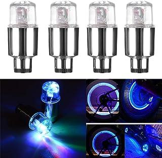 چراغ دریچه تایر اتومبیل CJRSLRB 4Pack ، چراغ چرخدار دوچرخه ، چراغ درپوش ضد آب سوپاپ برای اتومبیل / دوچرخه / موتورسیکلت (آبی)
