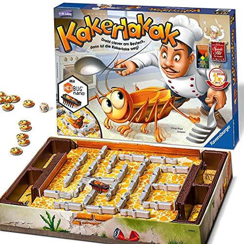 Ravensburger 22212 - Kakerlakak - Kinderspiel mit elektronischer Kakerlake für Groß und Klein, Familienspiel für 2-4 Spieler, geeignet ab 5 Jahren