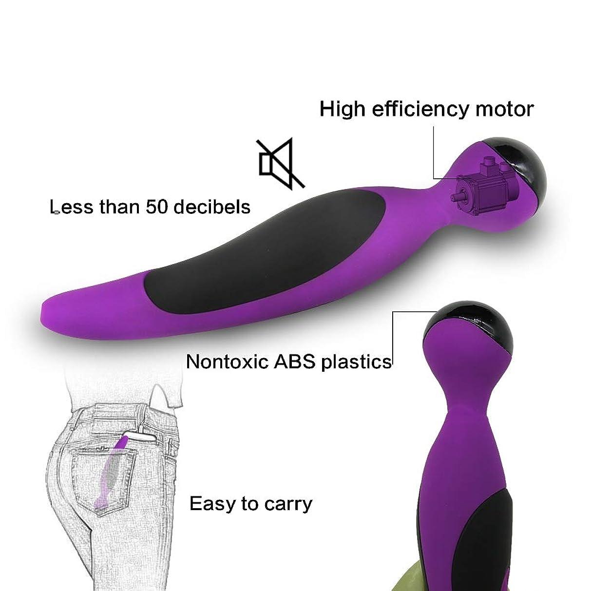 宗教緑悲しみ女性マッサージャー 女性のためのマルチ周波数振動ワイヤレス電気強力なサイレント防水Vibwandsフィットネスメッセージ - まばゆいばかりの紫のマッサージャー 女性マッサージャー