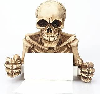 Echolife Halloween Skull Skeleton Toilet Paper Holder Wall Mount Decor for Bathroom Medieval & Gothic Gifts