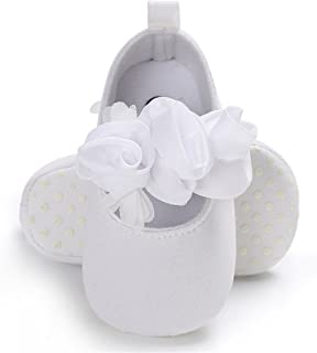 Baby Infant Girls Soft Sole Floral Princess Mary Jane Shoes Prewalker Wedding Dress Shoes