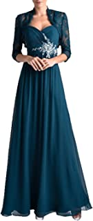 QUZI DRESS Women's Two Pieces Chiffon Mother of The Bride Dress Lace Formal Party Gowns QZ020