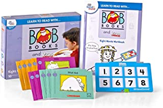 hand2mind Learn to Read with Bob Books and VersaTiles - Sight Words Set (Ages 3-6) | Sight Words Games, 10 BOB Books, 20-Page Workbook & 1 Answer Book, Award Winning