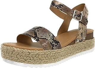 Randolly Women's Shoes Ladies Fashion Open Toe Ankle Strap Sandals Casual Roman Shoes