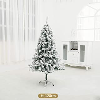 WZR 4 Ft Snow Flocked Artificial Christmas Pine Tree,250 Tips Premium Unlit Xmas Tree Foldable Metal Stand Indoor Outdoor-White 4ft