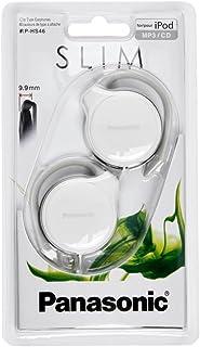 Panasonic RP-HS46-W Clip in-ear hoofdtelefoon (bijzonder vlak, licht en comfortabel om te dragen) wit