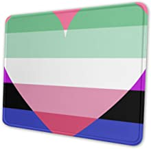 Genderfluid Abrosexual Pride Flag Themed Office Gaming Mouse Pad Gamer Computer Accessories Cool Mat Small for Girl Boy Kid Women Men Home Decor Merchandis Items