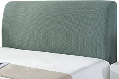 Dust Solid Color Elastic Protection Bed Head Board Cover, Single Double Bed Dust Cover, All-Inclusive Design Solid Color Elastic Headboard Protection Cover,Green-70 * 120