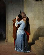 New Paint by Numbers for Adults Children - The Kiss﹣Francesco Hayez - DIY Digital Painting by Numbers Kits on Canvas