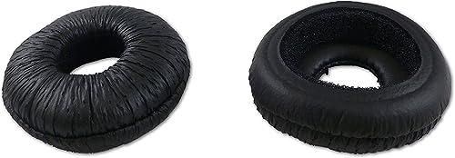 2021 Leatherette Headset Ear Pads for Plantronics discount SupraPlus, GN Netcom/Jabra, Smith Corona, VXI, Starkey, Sennheiser - Soft Cushion high quality - 1 Pair outlet sale