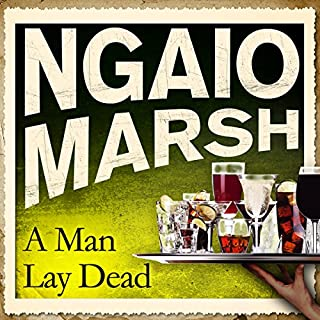 A Man Lay Dead audiobook cover art