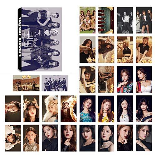 Chutoral 30 Stück/Set Kpop GIDLE Fotokarten HD selbstgemachte Papierkarten LOMO Karte Bestes Geschenk für Fans
