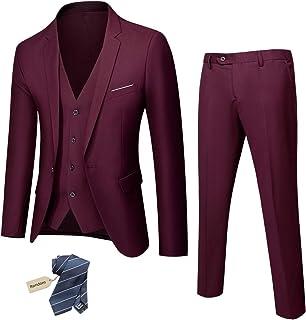 ست کت و شلوار مردانه 3 تکه مردانه ، شلوار جلیقه ای یک دکمه ای باریک با کراوات