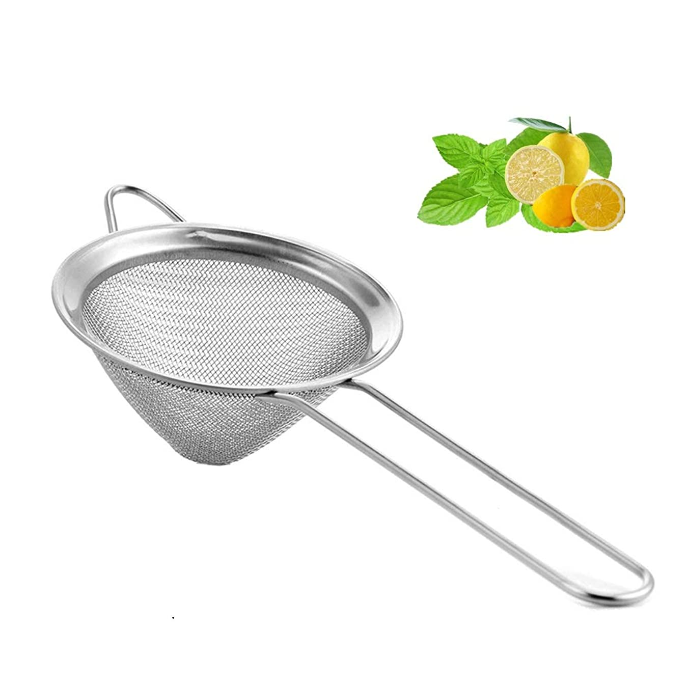 Fine Mesh Strainer For Bar -Stainless Steel Conical Strainer For Cocktail Drink Bar Strainers Bartender Bar Tool, 4 Inch, CTSN0010 (Silver)