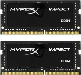 Kingston Technology HyperX Impact 32GB 2666MHz DDR4 CL15 260-Pin SODIMM Laptop Memory Black 16GB Kit (2 x 8GB)