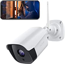 Victure 1080P Wireless Outdoor Security Camera 2.4G Bullet WiFi Security Camera with IP66 Weatherproof Motion Detection Night Vision 2-Way Audio Compatible with iOS/Android System