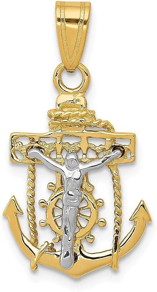 14k Mariners Religious Faith Cross Gift Pendant Necklace Jewelry 70%OFFアウトレット 人気激安