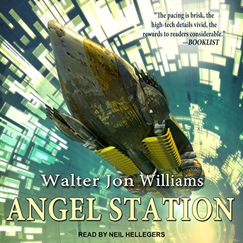 Angel Station audiobook cover art