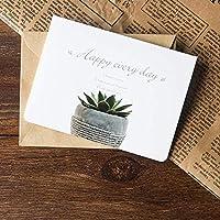 ヴィンテージ祝福カード小さなカード紙封筒ビジネスメッセージカード封筒マニュアルDiyグリーティングカードB