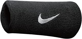 NIKE Adultos Swoosh Double Wide Wristbands Sudor Banda