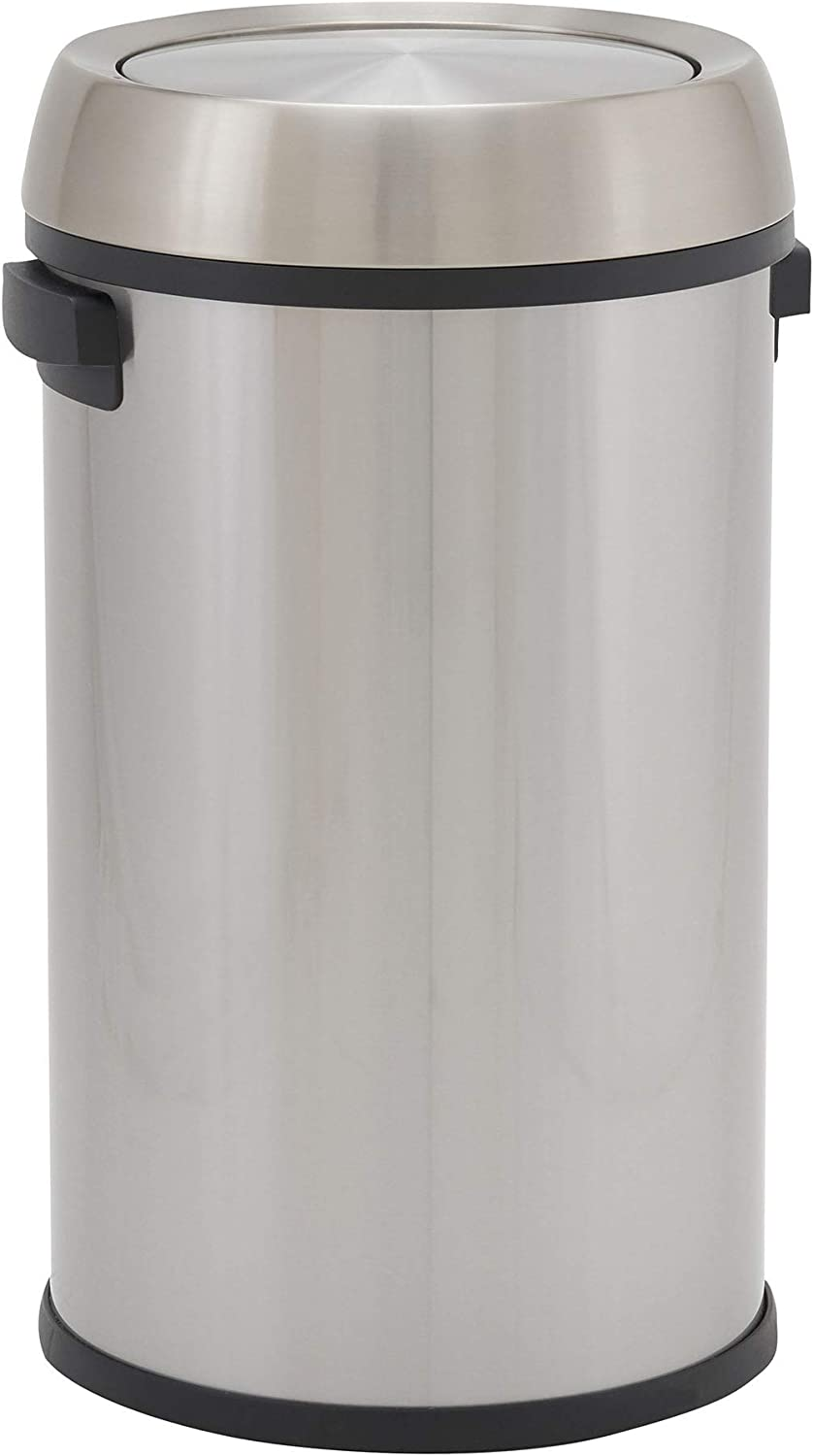 Design Trend Round Stainless Steel Commercial Swi Trash Can with Daily bargain sale Arlington Mall