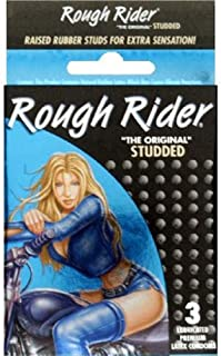 Contempo Rough Rider Studded Condom, Pack of 3
