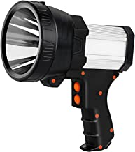 Mo.tools Rechargeable spotlight,Super Bright 6000 Lumens LED Searchlight..