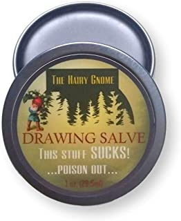 Sponsored Ad - This Stuff Sucks!.Poison Out. The Hairy Gnome- All Natural Drawing Salve with Pine Resin and Plantain