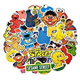 50Pcs/Pack Sesame Street Stickers Children Education for Motorcycle Skateboard Notebook Luggage Laptop Bicycle for Kid Stickers for Water Bottles,Laptop,Phone,Hydro Flask - Waterproof Vinyl Stickers