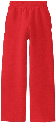 Soffe Big Boys' Open Bottom Heavy Weight Pocket Sweatpant, Red, Small